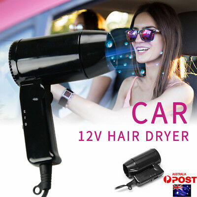 Auto Travel Car Accessory Portable Window Foldable Camping Hair Dryer 12V 216W