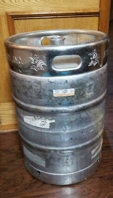Anheuser Busch Empty 1/2 Barrel Stainless Steel Beer Keg Brewing Table Base