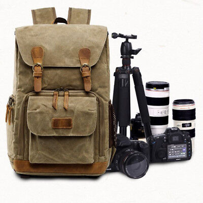 Premium Vintage Photography Backpack Waterproof Photography Canvas Backpack Bag