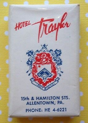 Vintage Advertising Personal Size Hotel Soap TRAYLOR HOTEL Allentown, PA.