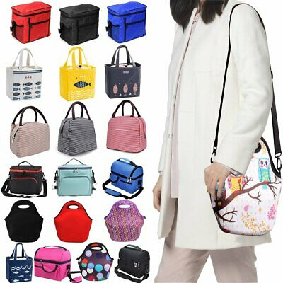 Insulated Thermal Cooler Lunch Box Carry Tote Picnic Work Case Storage Bag