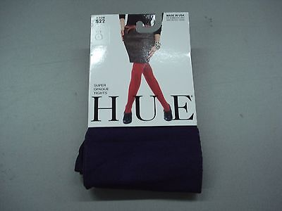 NWT Women's Hue Super Opaque Tights Size 1 Aubergine #217D