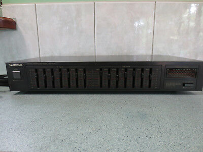 Vintage TECHNICS 7 Band Stereo Graphic Equalizer SH-8016 - Made in Japan quality