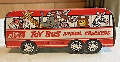 Vintage 1964 Animal Crackers Toy Bus Dairy State Foods Never Opened Repro