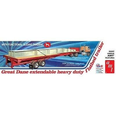 AMT Great Dane Extendable Flat Bed Trailer 1:25 Scale Model Kit AMT