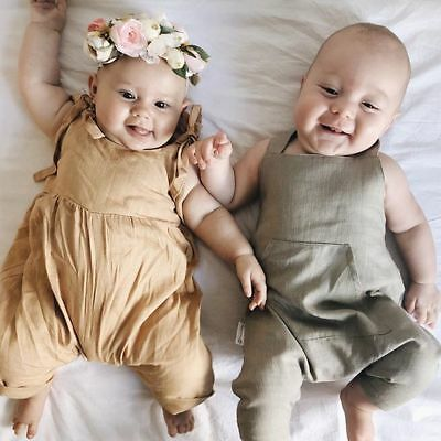 AU Newborn Infant Baby Girls Boy Cotton Romper Bodysuit Jumpsuit Outfits Clothes