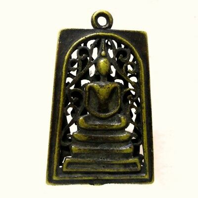 Antique Thai Buddha Amulet Old LP Somdaj Pendant AYUTTHAYA Buddhist Art gorgeous