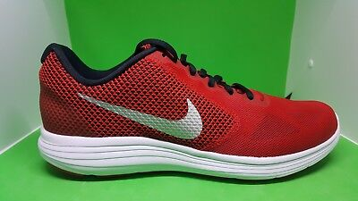 free shipping c0bc6 29551 Nike Revolution 3 Running Mens Shoes Red Silver 819300-601 size 10