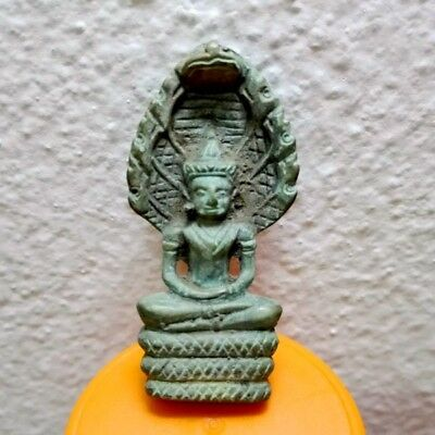 Thai Buddha Amulet Old Statue LP Pendant Ayuttaya Khmer Art Antique gorgeous