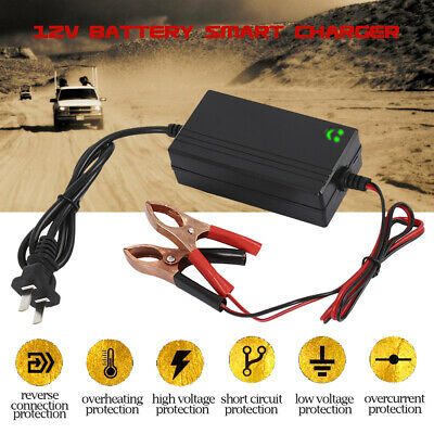 Trickle charger battery maintainer Motorcycle Car LED 12V Intelligent charger
