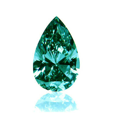 Loose Moissnite Fancy Green Pear Diamond Excellent Cut 0.4 to 2 CT For Jewelry