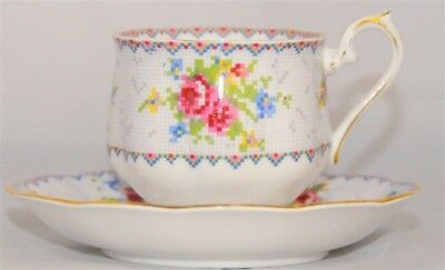 Royal Albert Petit Point Bone China Teacup Cup & Saucer Set ( 10 Available )