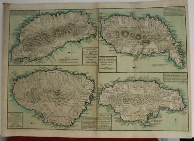 Jamaica St Vincent Grenada Dominica 1790 Jefferys Rare French Edition Antiquemap