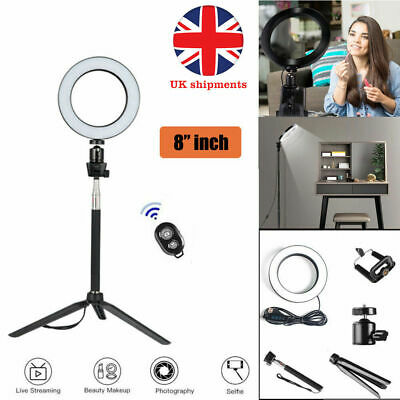 """8"""" LED Light Ring with camera Stand Lighting light Kit for Youtube Live Makeup"""