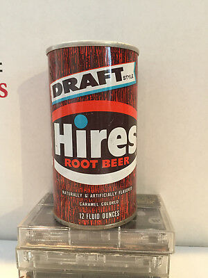 Hires Draft Root Beer pull tab soda can Hires Evanston, ILL