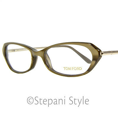 51daf1e3bf0 TOM FORD SQUARE Eyeglasses TF5306 064 Size  49mm Green Horn 5306 ...