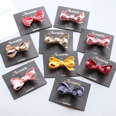 1PC New Kids Girls Baby Children Candy Color Hair Pins Bowknot Korean Hair Clip