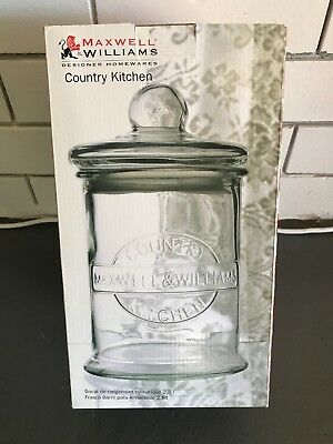 NEW MAXWELL and WILLIAMS OLDE ENGLISH STORAGE JAR BISCUIT BARREL 4.2L