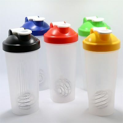 500ml BPAfree Shake Protein Blender Shaker Mixer Cup Drink Whisk Ball Bottle NEW