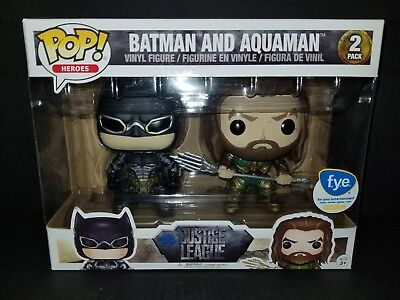 Funko Pop Heroes Batman and Aquaman DC Justice League, FYE Exclusive 2 Pack
