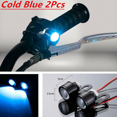 New Motorcycle Daytime Cold Blue Led Ice Auto Accessories Parts Light Running