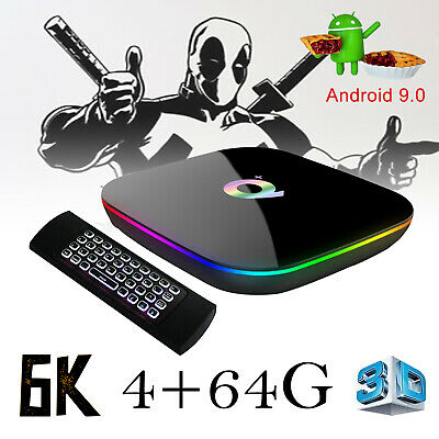2019 6K 3D 4+64GB Q+ TV Box Android 9.0 Quad Core WIFI With Backlit Keyboard MX3