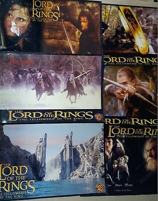 The Lord Of The Rings 2001 Original Us Movie 6 Pic Lobby Card 12X18 Inch
