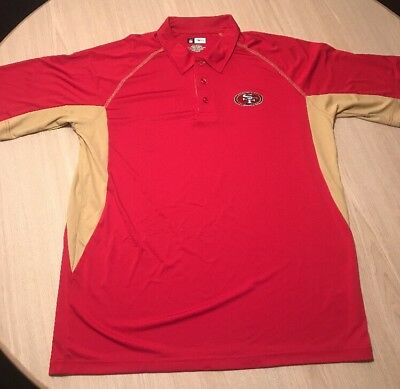 Men s Size XL San Francisco 49ers Polo Shirt Niners Football NFL Golf Polo  Red c05213321