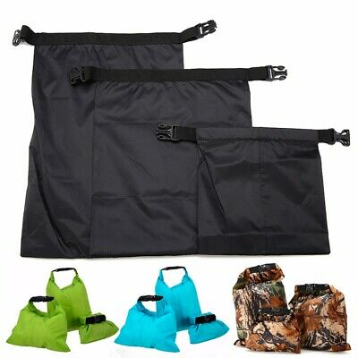 3PCS Waterproof Dry Storage Bag Sack Canoe Kayak Floating Camping 1.5-3.5L UK