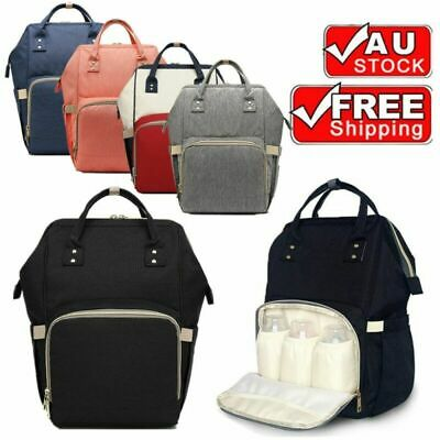 New Luxury Large Mummy Maternity Nappy Diaper Bag Baby Bag Travel Backpack AU