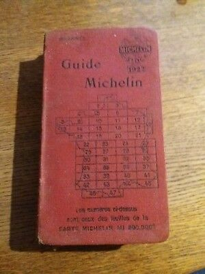 Guide Michelin 1922 Rouge France