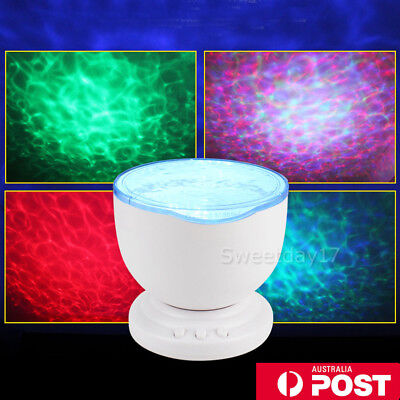 Calming Autism Sensory LED Light Projector Relax Ocean Night Music Projection OZ