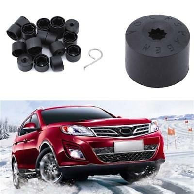 Car Wheel Tyre Hub Screw Bolt Nut Caps Accessories Black Practical Caps T