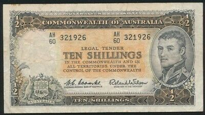 Australia 1961 10/- Coombs-Wilson Reserve Bank R-17 Fine