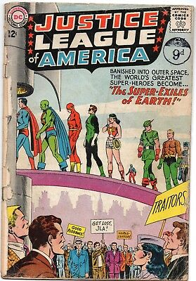 "Justice League of America 19 - ""The Super-Exiles of Earth!"" May 1963"