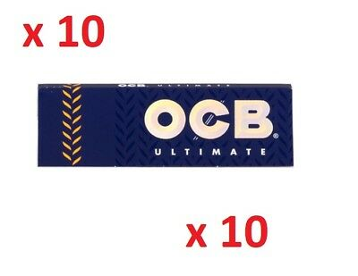 10 booklets OCB ULTIMATE regular Thinnest Roll Rolling paper - 500 papers