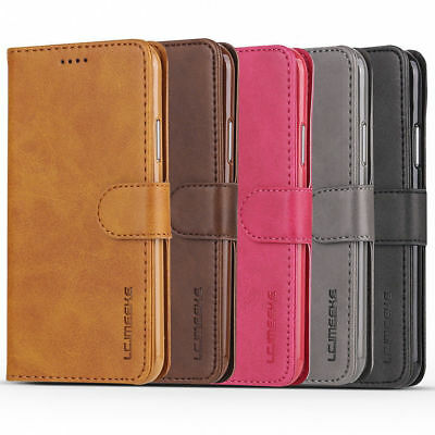 For Huawei P20 lite/Pro Luxury Genuine Ultra Thin Leather Flip Wallet Case Cover