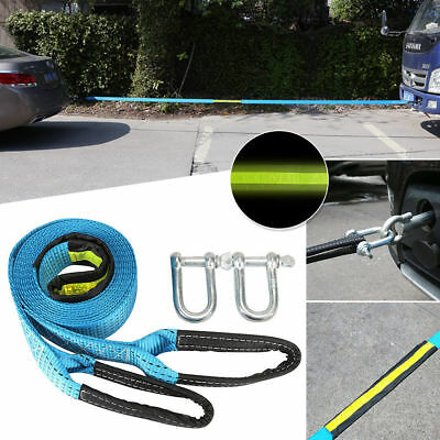 5M 8 Tons Towing Rope Heavy Duty With U Hooks Shackle For Car Truck Trailer SUV