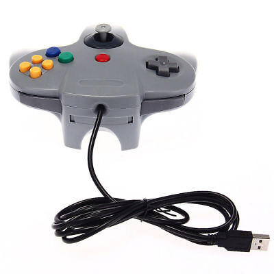 Wired Gaming Controller Game Joystick USB GamePad for Nintendo 64 Laptop PC Mac