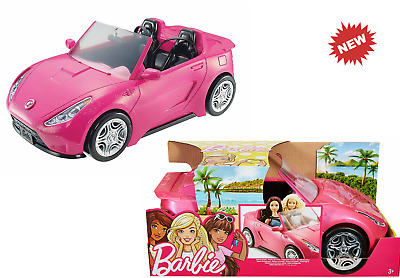 Barbie Car Toy Glam Convertible Car Doll Pink Gift for Girls Child Convertible
