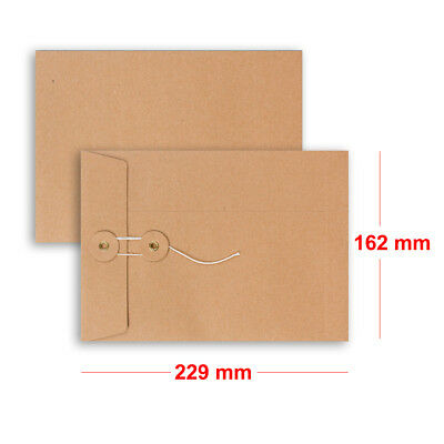 Quality String & Washer Strong Bottom&Tie Without Gusset Envelopes Manilla - C5
