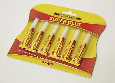 BARGAIN Pack of 6 Super Glue Tubes Ideal for most Materials DIY & TRADE DIYGLUE3