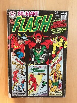 80-Page Giant The Flash #178 (Dc Comics 1968) Vg- To Vg Silver Age Copy