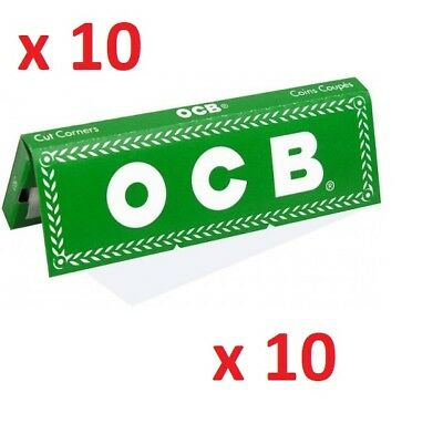 10 booklets OCB GREEN No8 regular CIGARETTE Roll Rolling paper - 500 papers
