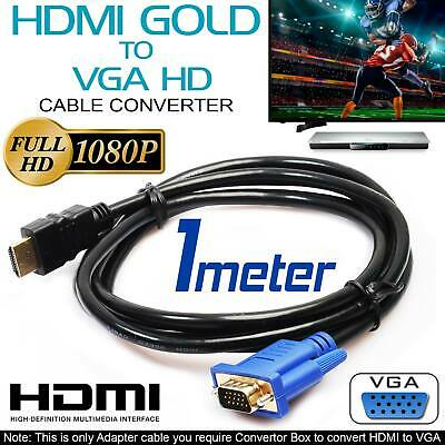 New HDMI Male to VGA Male Video Converter Adapter Cable Cord 1080P HDTV