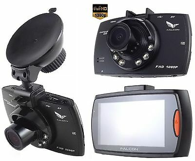 "FALCON HD51-LCD 2,6"" Full HD 1080p 3Mp DVR CAMERA VIDEO CAMARA - GRABADORA Coche"