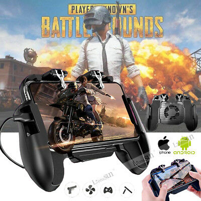 Mobile Phone PUBG Game Wireless Cooling Fan Gamepad Joystick For iPhone Samsung