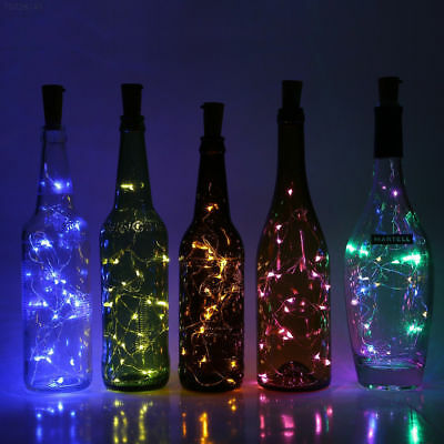 F06E Copper Wire Wine Bottle Cork Battery Operated Fairy String Lights 2M 20LED.