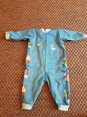 Splash About Warm in one Baby swimsuit wetsuit size medium M 3-6 months boys