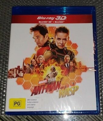Ant-Man And The Wasp 3D + Blu-ray BRAND NEW and Sealed Region B